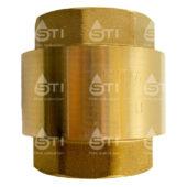Клапан обратный пружинный  STI 15 (латунный шток)