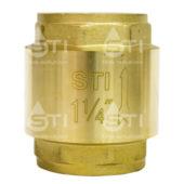 Клапан обратный пружинный  STI 32 (латунный шток)