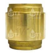 Клапан обратный пружинный  STI 40 (латунный шток)